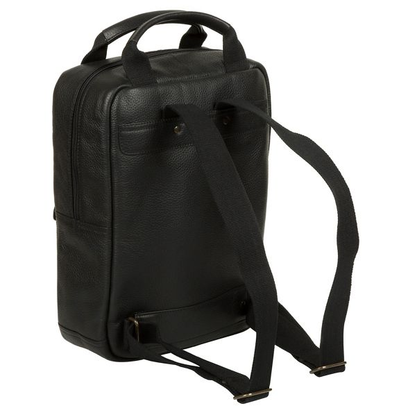 Cultured leather backpack Black 'Revolution' London buffalo q4rwgqPp