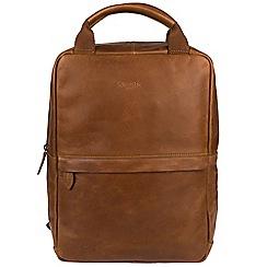 Cultured London - Chestnut 'Revolution' buffalo leather backpack