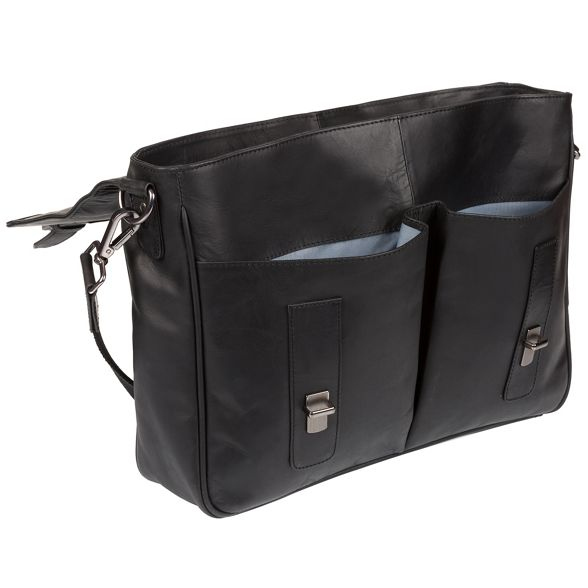 14 briefcase 'Task' laptop inch Black Cultured leather London xCFzq7Cwt
