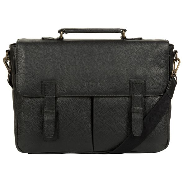 leather briefcase inch London laptop Cultured 14 Black 'Task' Xg7qU