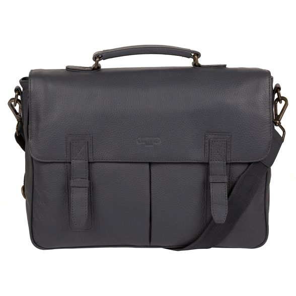 Cultured Dark 'Task' briefcase leather London Grey 14 laptop inch qrvqzw5