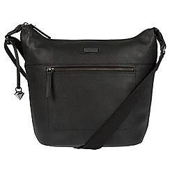 Cultured London - Black 'Portinax' leather hobo bag