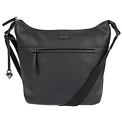 Cultured London - Navy 'Portinax' leather hobo bag