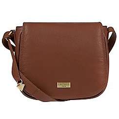 Cultured London - Sienna brown 'Pollencia' leather cross-body bag