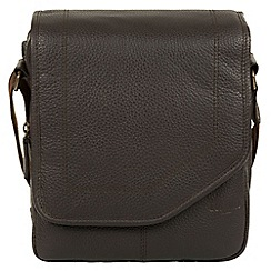 Cultured London - Dark brown 'trip' small leather despatch bag