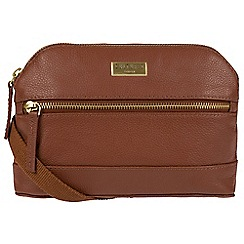 Cultured London - Sienna Brown 'Parma' small leather cross-body bag