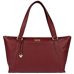 Cultured London - Ruby red 'Alma' leather bag