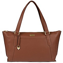 Cultured London - Sienna brown 'Alma' leather bag