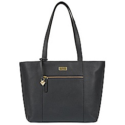 Cultured London - Navy 'Bella' leather tote bag