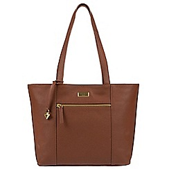 Cultured London - Sienna Brown 'Bella' leather tote bag