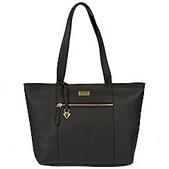 Cultured London - Black 'Daphne' leather bag