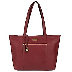 Cultured London - Ruby red 'Daphne' leather bag