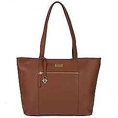 Cultured London - Sienna brown 'Daphne' leather bag