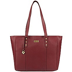 Cultured London - Ruby red 'Tessa' leather bag
