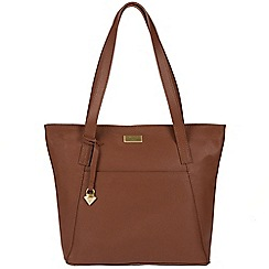 Cultured London - Sienna brown 'Beauvior' leather bag