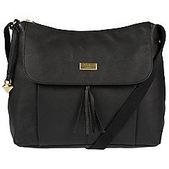 Cultured London - Black 'Hobo' leather bag