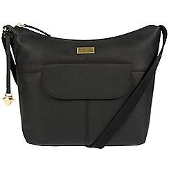 Cultured London - Black 'Emma' leather hobo bag