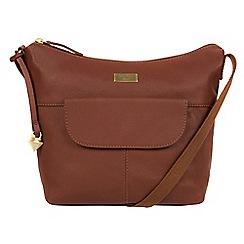 Cultured London - Sienna brown 'Emma' leather hobo bag