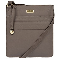 Cultured London - Grey 'Jolie' leather cross-body bag