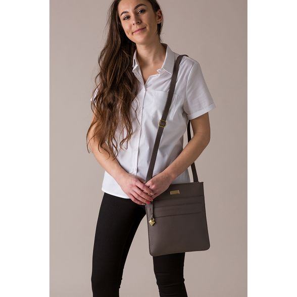 Taupe bag cross 'Jolie' body Cultured London leather YI5wnvq