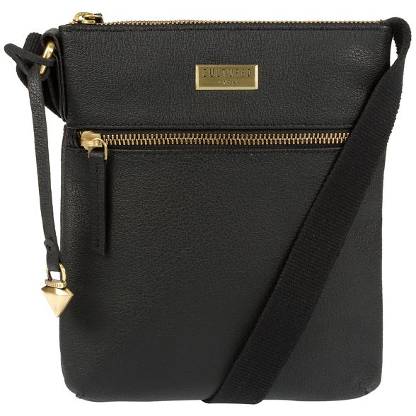 leather 'Halle' bag London Cultured body cross Black tzS1x