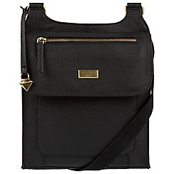 Cultured London - Black 'Madison' leather cross-body bag
