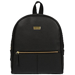 Cultured London - Black 'Renee' fine leather backpack