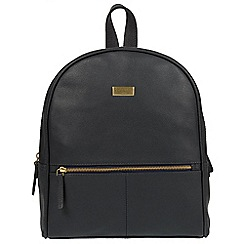 Cultured London - Navy 'Renee' fine leather backpack