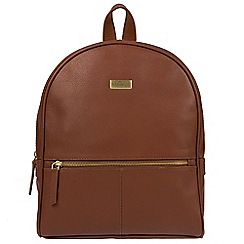 Cultured London - Sienna brown 'Renee' fine leather backpack