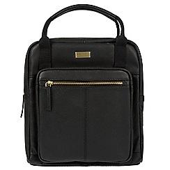Cultured London - Black 'Jaclyn' leather backpack