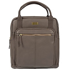 Cultured London - Grey 'Jaclyn' leather backpack