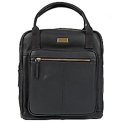 Cultured London - Navy 'Jaclyn' leather backpack