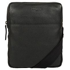 Cultured London - Black 'Hop' leather despatch bag