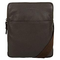 Cultured London - Dark brown 'Hop' leather despatch bag