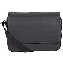 Cultured London - Dark Grey 'Impact' buffalo leather work bag