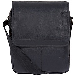 Cultured London - Navy 'Ride' buffalo leather despatch bag