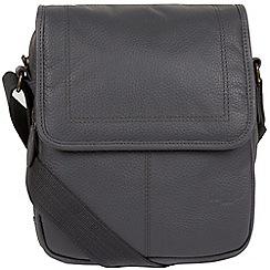 Cultured London - Dark Grey 'Dash' buffalo leather despatch bag