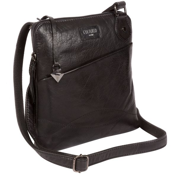 bag London Cultured leather cross Black body 'Abberton' U4wqaY
