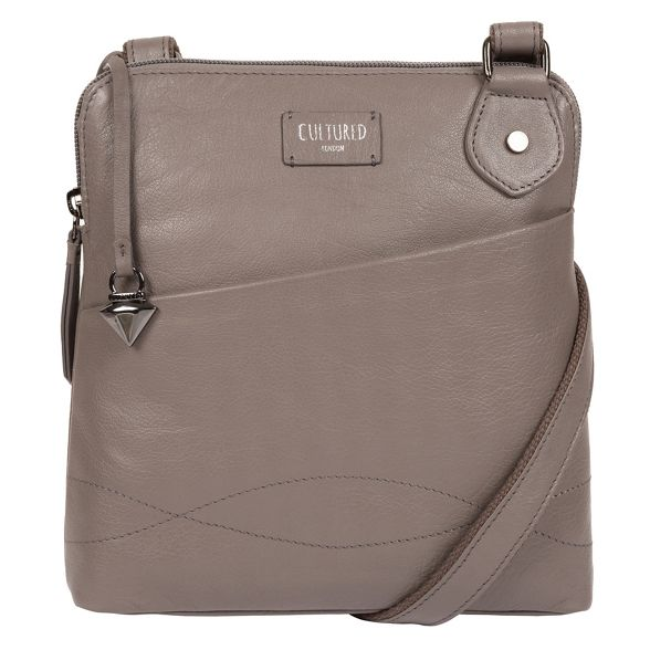 body London leather bag 'Abberton' Grey Cultured cross q8nRTxAgXX