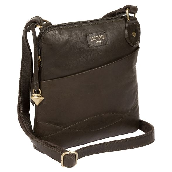 London Olive bag Cultured leather body cross 'Abberton' FqB41d