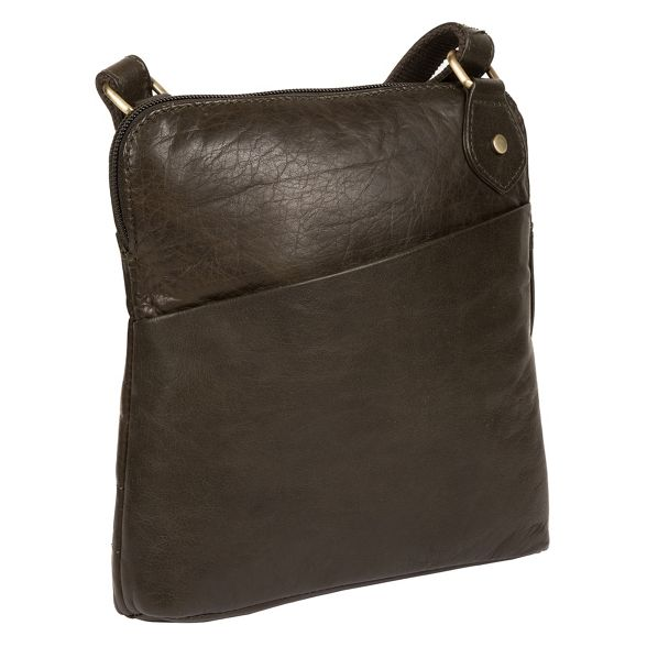 bag London Olive Cultured body 'Abberton' leather cross TawFYq