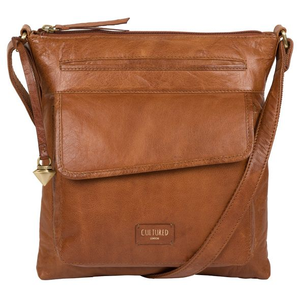 Dark 'Daar' London body cross bag tan leather Cultured vOTqwZwx