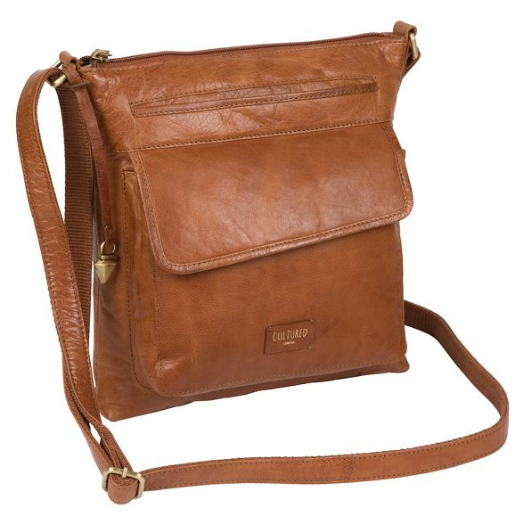 tan Dark leather body London bag Cultured 'Daar' cross 7q6EI5w