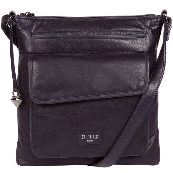 bag Cultured body cross leather London Navy 'Daar' 7qCzqaRxw