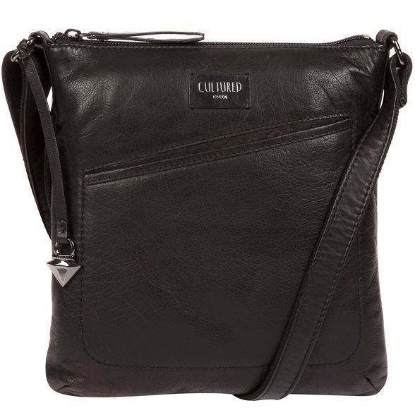 Black London cross Cultured 'Gainford' leather bag body qBxx5P