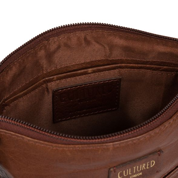 brown Cultured leather body cross bag London Conker 'Gainford' wEqxBaU