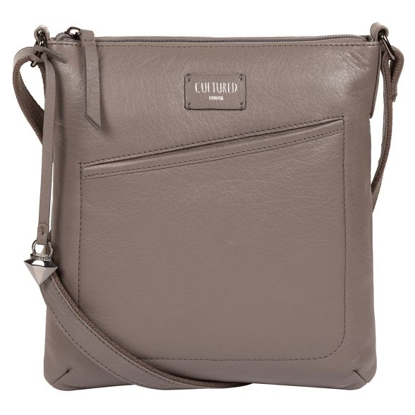 Grey London cross leather 'Gainford' body bag Cultured BawqvSnx5w
