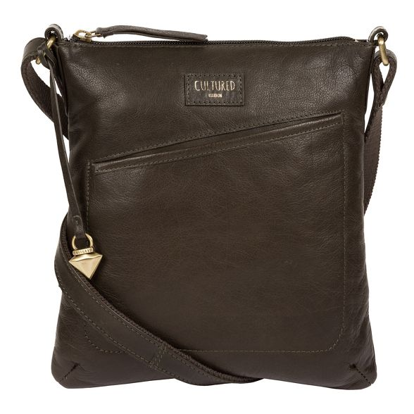 body Cultured London cross bag leather 'Gainford' Olive OSxzqPZ