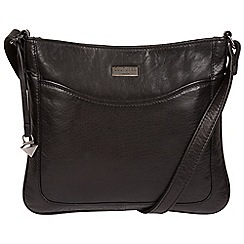 Cultured London - Black 'Voe' leather cross-body bag