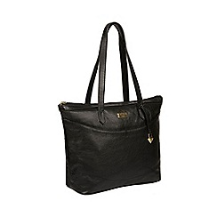 Cultured London - Black  Oriana  Leather Tote Bag d5fc5c21676d9